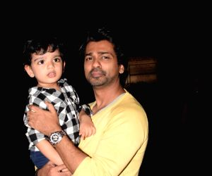 Nikhil Dwivedi seen with family at Juhu