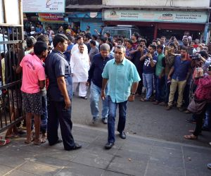 Actor Paresh Rawal arrives to attend the funeral procession of  actor, writer and director  Neeraj Vora in Mumbai on Dec 14, 2017.