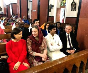 Pawan Kalyan, Anna Lezhneva at church