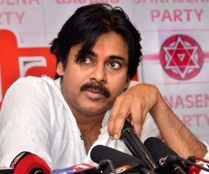 Pawan Kalyan addresses party workers