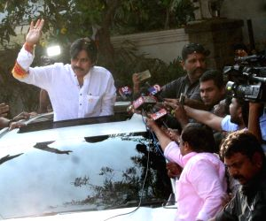Pawan Kalyan leaves for 'yatra' launch
