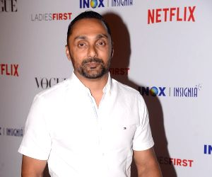 """Actor Rahul Bose at the premier of documentary film """"Ladies First"""" in Mumbai on March 8, 2018."""