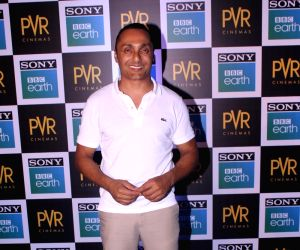 """Actor Rahul Bose at the screening of Sony BBC Earth's film """"Blue Planet II: One Ocean & The Deep"""" in Mumbai on May 15, 2018."""