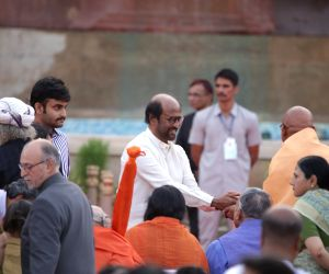 Actor Rajinikanth during Prime Minister Narendra Modi's swearing-in ceremony, in New Delhi on May 30, 2019.