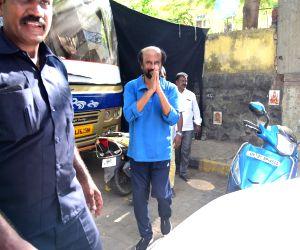 Rajinikanth seen at Bandra