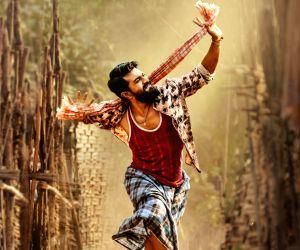 "Actor Ram Charan stills from Telugu upcoming film ""Rangasthalam""."