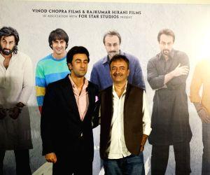 "Teaser launch of Sanjay Dutt's biopic ""Sanju"" - Ranbir Kapoor and Rajkumar Hirani"