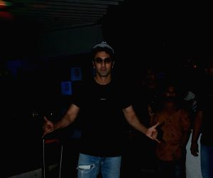 "Actor Ranbir Kapoor at the success party of his film  ""Sanju"", a biopic on actor Sanjay Dutt in Mumbai on July 2, 2018."