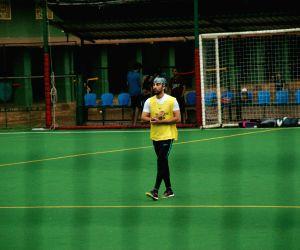 Ranbir Kapoor during football match in Mumbai's Bandra