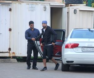 Ranbir Kapoor, Adar and Arman Jain seen at football ground in bandra