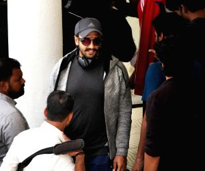 "Ranveer Singh during the shooting of ""83"" sets in Himachal"