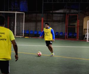 Sachiin Joshi seen at All Stars Football Club