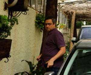 Sachin Khedekar at a studio