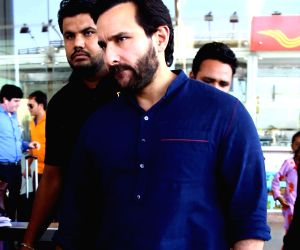 Saif Ali Khan arrives at airport