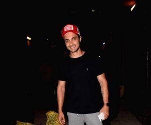 Aayush Sharma seen at a gym