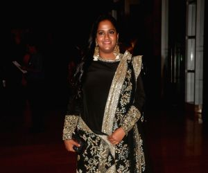 Actor Salman Khan's sister Arpita Khan during sangeet ceremony of All India Football Federation (AIFF) President Praful Patel's daughter Poorna Patel  in Mumbai on July 19, 2018.