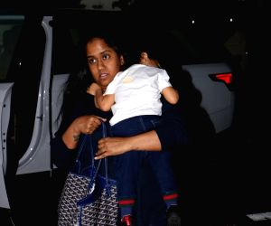 Arpita Khan Sharma and Ahil seen at airport