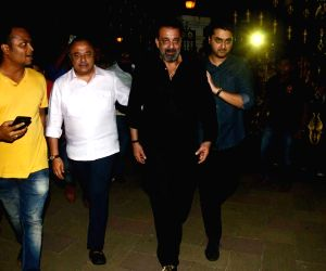 Sanjay Dutt arrives to attend his birthday party