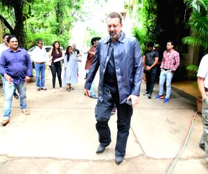 Sanjay Dutt seen at a studio