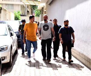 Sanjay Dutt seen outside Vishesh Films office