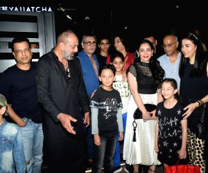 Sanjay Dutt seen with family and friends at a Bandra restaurant