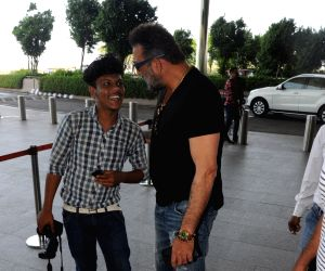 Sanjay Dutt spotted at Airport in Mumbai