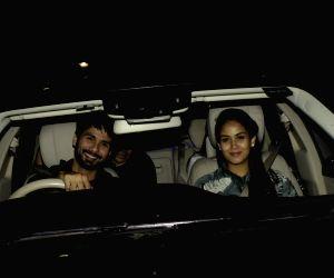"Special screening of film ""Dhadak"" - Shahid Kapoor and Mira Rajput"
