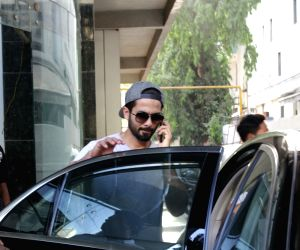 Shahid Kapoor seen at a clinic