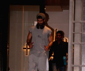 Shahid Kapoor seen outside a gym