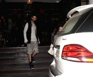 Shahid Kapoor and Mira Rajput seen outside a restaurant