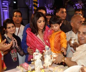 Shilpa Shetty at ISKCON temple