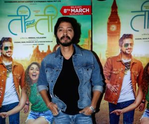 "Marathi film ""Ti And Ti"" screening - Pushkar Jog, Shreyas Talpade"