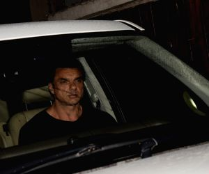 Sohail Khan seen at actor Salman Khan's residence