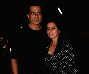 "Special screening of film ""Padmaavat"" - Sonu Sood and Sonali Sood"