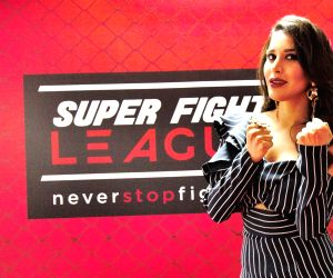Sophie Choudry at the Super Fight League