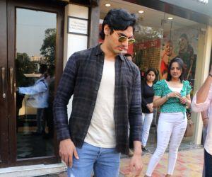 Aahan Shetty seen at Bandra