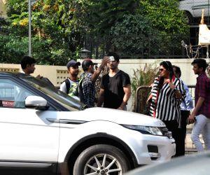 Sushant Singh Rajput on location shoot