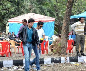 Sushant Singh Rajput during shooting of his upcoming film