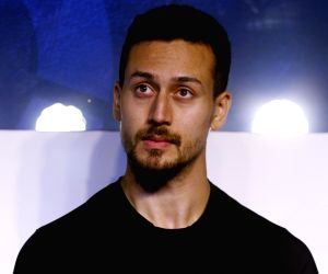 Tiger Shroff at a launch of lifestyle brand