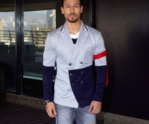 Actor Tiger Shroff at filmmaker Sajid Nadiadwala's office in Mumbai on March 21, 2018.