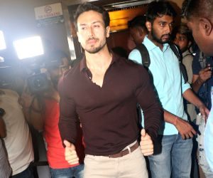 """Actor Tiger Shroff at the screening of his upcoming film """"Student of the Year 2"""" in Mumbai, on May 9, 2019."""