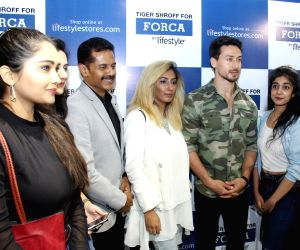Tiger Shroff during launch of a lifestyle store