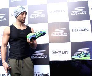Tiger Shroff promotes athletic shoe brand