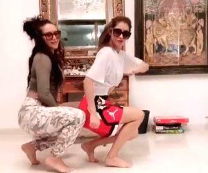 Free Photo:  Disha Patani and Tiger Shroff's sister make funny 'bored in a house' video