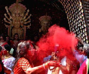 Sindoor-Khel at Chalta Bagan Durga PujaPandal