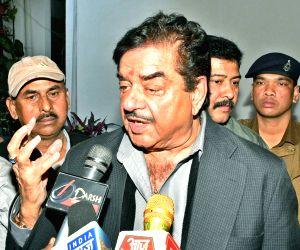 Shatrughan Sinha talks to press