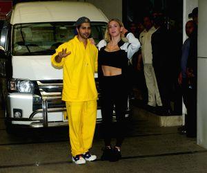 Varun Dhawan, Charlotte Flair seen at Khar