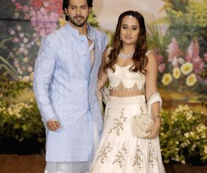 Sonam Kapoor and Anand Ahuja's wedding reception - Varun Dhawan and Natasha Dalal