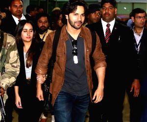 Varun Dhawan arrives for Isha Ambani-Anand Piramal's pre-wedding functions