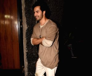 Bhumi Pednekar's birthday celebration - Varun Dhawan